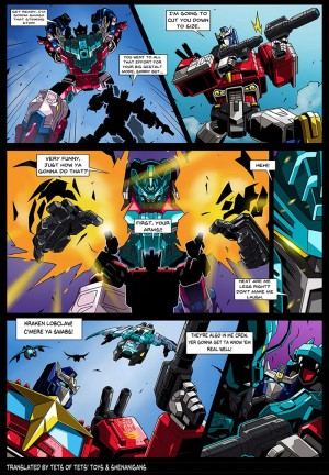 Transformers News: English Translation for Transformers Selects Star Convoy and Seacons Manga Issues 2,3, and 4
