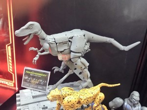 Grey Prototype of Takara Tomy Transformers Masterpiece MP-41 Dinobot at Tokyo Comic Con