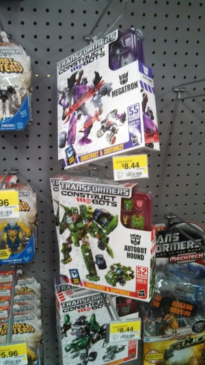 Transformers News: Transformers Contructbots Elite Hound, Megatron and Optimus Prime Sighted at Walmart in NC