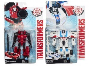 Transformers News: New In Package Images of Robots in Disguise Warriors Sideswipe and Jazz