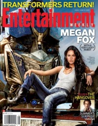 Optimus Prime and Megan Fox on cover of EW