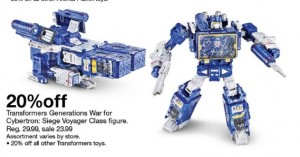 Transformers News: Steal of a Deal - Target Running 20% Off Coupon for All Transformers