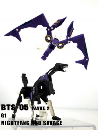 BTS-05 Nightfang & Savage Preorder Up: Combines with Tremor & Frequency