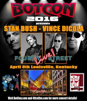 Transformers News: Botcon 2016 Concert Poster: Stan Bush and Vince Dicola