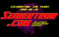 Transformers News: Order your Seibertron.com 10th Anniversary T-Shirts today!