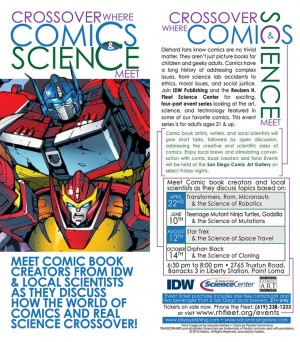 Transformers News: IDW Publishing and Reuben H Fleet Science Center - Crossover Where Comics & Science Meet