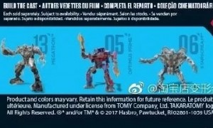 Transformers News: UPC Codes for Upcoming  2018 Transformers Movie Toyline Hints at Another Leader Figure and More Toys