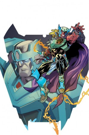 Transformers News: Retail Incentive Cover Variant for IDW Transformers vs Visionaries #1 by Cahill / Bennett