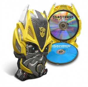 Walmart Age of Extinction Blu-Ray Preorders: Bumblebee Mask Packaging or Figurine Giftset