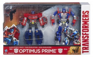 First Look at Age of Extinction Optimus Prime Evolution 2-Pack