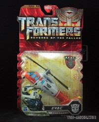 Transformers News: In-Package Images and Biographies of (Red) Rampage and Evac