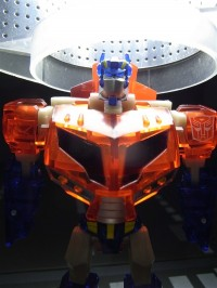 """Toy Images of Transformers Animated """"The Cool"""" Comic Exclusive - Activators Optimus Prime Clear Ver."""