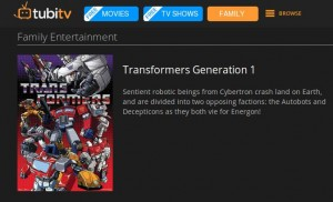 Hasbro Studios Animated Series Including Transformers Available on TubiTV Streaming Site