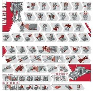 Images of Face Changing Gimmick and Instructions for Movie Masterpiece MPM Optimus Prime