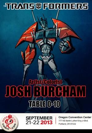 Transformers News: Josh Burcham Attending Rose City Comic Con, Portland, This Weekend