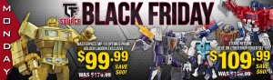 Transformers News: Black Friday Week at TFSource - Day 1! MP-10 Golden Lagoon Optimus Prime - $99.99! SAVE $80!