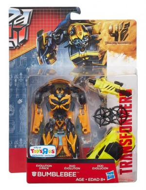 Transformers News: Official Images  - Transformers: Age of Extinction TRU Exclusive Bumblebee Evolution Two-Pack