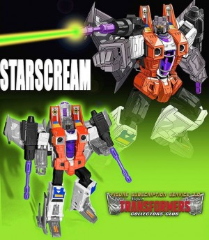 Transformers News: New Image: Transformers Collectors' Club Subcription Service 3.0 G2 Starscream #TFSS3point0