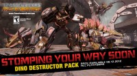 "Transformers News: Transformers: Fall of Cybertron ""Dinobot Destructor Pack"" Trailer"