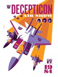 "Transformers News: New Transformers Print from Acidfree Gallery, ""Decepticon Air Show"""