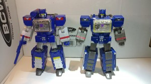 Comparison Images between Transformers Leader Soundwave from Bumblebee Movie and Titans Return