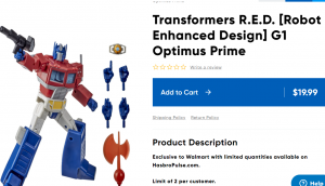 Hasbro Pulse now has a Section Where you can order Store Exlusives