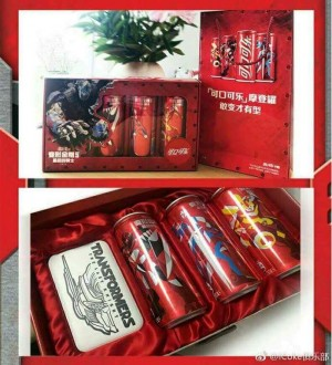 Transformers News: Additional Images of Transformers: The Last Knight Coca Cola Cans and new Collector's Box