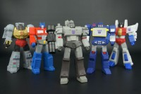 Transformers News: New Galleries: SDCC 2013 Titan Guardians Optimus Prime, Megatron, Grimlock, Starscream and Soundwave