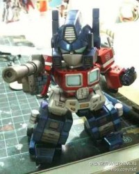 Third-Party SD Optimus Prime Color Prototype Images