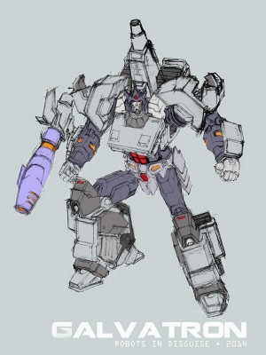 Transformers News: Andrew Griffith Shares Transformers: Robots in Disguise Galvatron Character Model