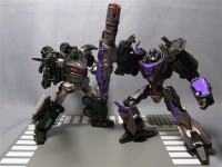 Transformers News: In-Hand Images of Transformers United Dark Side Optimus Prime & DS Megatron