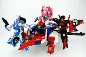 Transformers News: Takara Tomy Transformers Legends Arcee, Chromia, Windblade Image with MP Star Saber