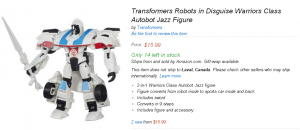 Transformers News: Newest Legion and Warrior Transformers Robots in Disguise toys available on Amazon