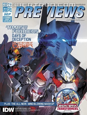 Transformers News: Previews Catalogue Featuring Transformers Front Cover by Sarah Stone