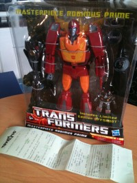 Transformers News: Master Piece Rodimus Prime out in UK retail
