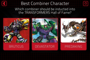 Transformers News: Transformers Hall of Fame 2015 Voting Now Open on Mobile Device App