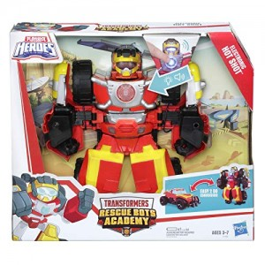 Transformers News: Rescue Bots Academy Electronic Hot Shot figure now available on Amazon.com