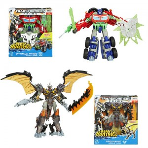 Transformers News: In-Pacakge Images: Transformers Prime Beast Hunters Simplified Voyagers Optimus Prime and Predaking