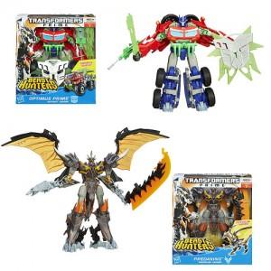 Transformers News: In-Pacakge Images: Transformers Prime Beast Hunters Simplified Voyagers Optimus Prime and Predaking