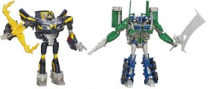 Transformers News: Video Reviews: Beast Hunters Weaponizers Talking Bumblebee and Optimus Prime