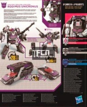 Transformers News: New Leaked Transformers Power of the Primes Scans: Rodimus Unicronus, Submaurader