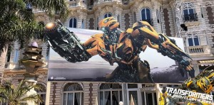 New Transformers: The Last Knight Banners at Cannes