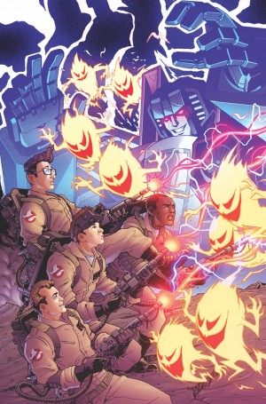 New IDW Transformers / Ghostbusters Previews - Megatron Talks With Gozer