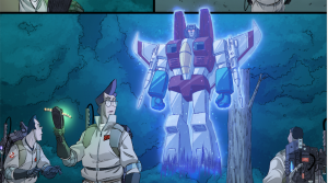 Transformers News: New IDW Transformers x Ghostbusters Sneak Peek: Egon Meets Starscream's Ghost