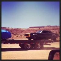 Transformers News: Older Model Black Camaro Spotted on Navajo Tribal Park in Monument Valley Transformers 4 Set