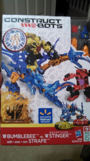Transformers News: Construct Bots Bumblebee With Strafe VS Decepticon Stinger Found At Retail