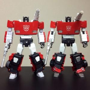 Comparison Images of Takara Tomy Transformers Masterpiece MP-12+ Lambor / Sideswipe