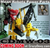 Transformers News: New Upgrade for EZ / Legends Devastator from CrazyDevy.com
