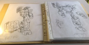 Sketches of Getaway and First Aid by IDW Lost Light artist Jack Lawrence
