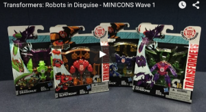 Video Review - Transformers Robots in Disguise Minicons Dragonus, Slipstream, Divebomb, Sawback